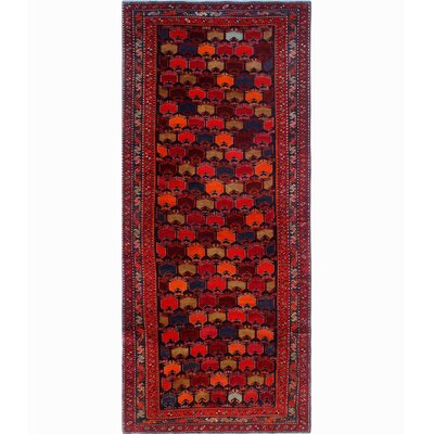 One-of-a-Kind Millay Sherazi Nayyer Hand-Knotted Wool Blue Area Rug