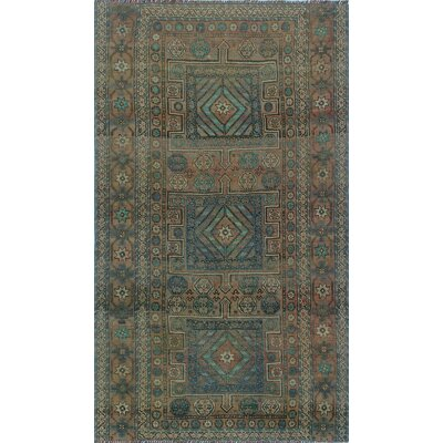 One-of-a-Kind Millay Cocasian Esfandyar Lt. Hand-Knotted Wool Brown Area Rug