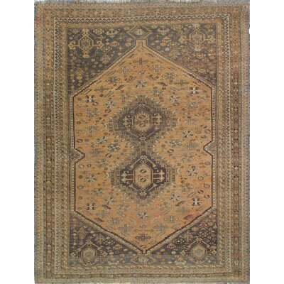 One-of-a-Kind Millet Semi Antique Sahar Hand-Knotted Wool Brown Area Rug