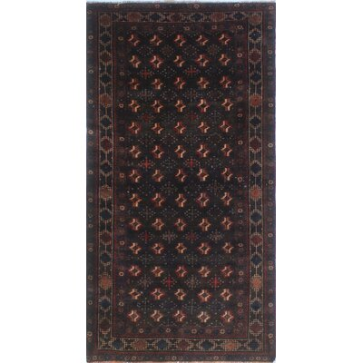 One-of-a-Kind Millay Bokara Meshia Hand-Knotted Wool Chocolate Area Rug