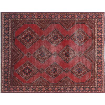 One-of-a-Kind Millet Semi Antique Samira Hand-Knotted Wool Red Area Rug