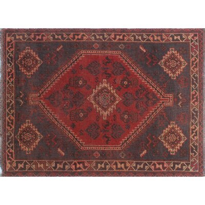 One-of-a-Kind Millet Semi Antique Noushafarin Hand-Knotted Wool Red Area Rug