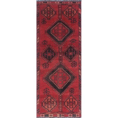 One-of-a-Kind Millet Semi Antique Pareevash Hand-Knotted Wool Red Area Rug