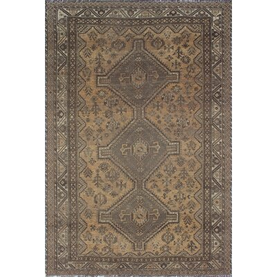 One-of-a-Kind Millet Semi Antique Jamileh Hand-Knotted Wool Gray Area Rug