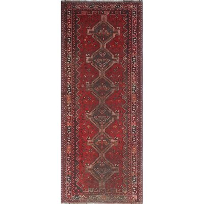 One-of-a-Kind Millet Semi Antique Sheraz Fardad Hand-Knotted Wool Red Area Rug