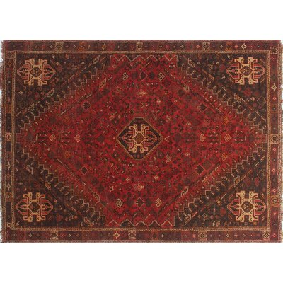 One-of-a-Kind Millet Semi Antique Millet Bousseh Hand-Knotted Wool Red Area Rug