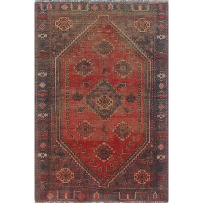 One-of-a-Kind Millet Semi Antique Nazy Hand-Knotted Wool Orange Area Rug