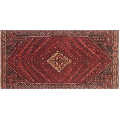 One-of-a-Kind Millet Semi Antique Haleh Hand-Knotted Wool Red Area Rug
