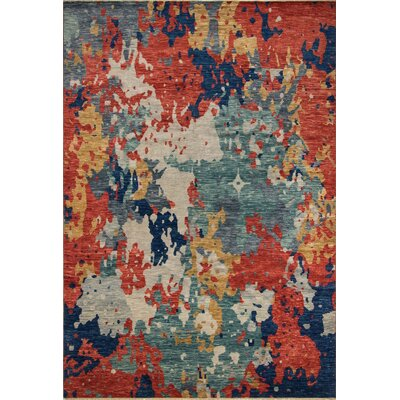 One-of-a-Kind Wobnar Oushak Pedro Hand-Knotted Wool Red Area Rug