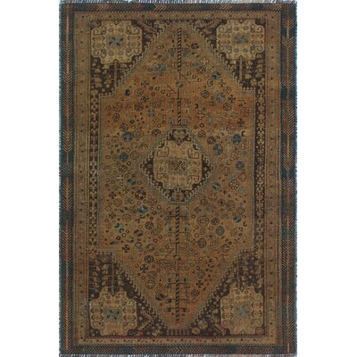 One-of-a-Kind Millet Semi Antique Farzan Hand-Knotted Wool Brown Area Rug