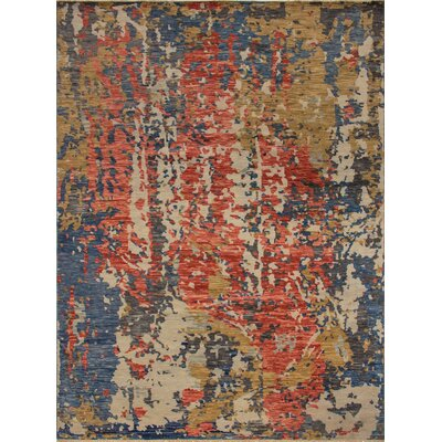 One-of-a-Kind Wobnar Oushak Matheus Hand-Knotted Wool Red Area Rug