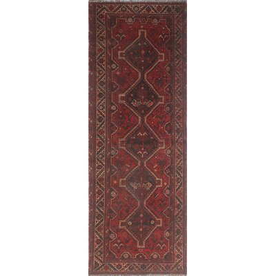 One-of-a-Kind Millet Semi Antique Mahtab Hand-Knotted Wool Red Area Rug