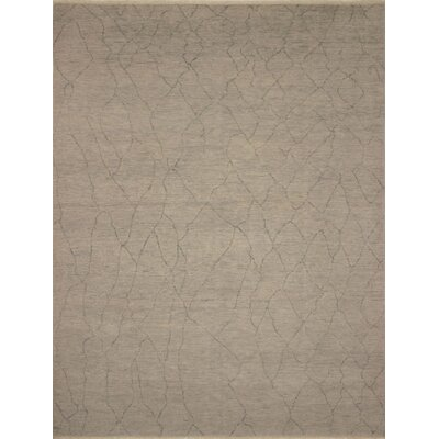 One-of-a-Kind Entrekin Fine Oushak Luiz Hand-Knotted Wool Gray Area Rug