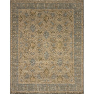 One-of-a-Kind Rothley Fine Oushak Victor Hand-Knotted Wool Gray Area Rug