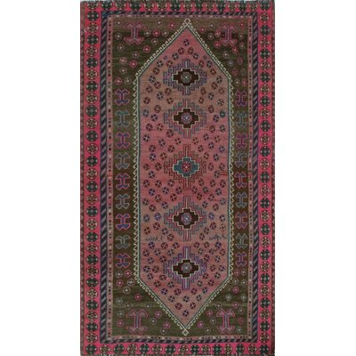One-of-a-Kind Millet Semi Antique Mehrnoosh Hand-Knotted Wool Pink Area Rug