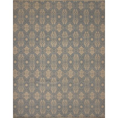 One-of-a-Kind Millican Fine Oushak Gustavo Hand-Knotted Wool Blue Area Rug