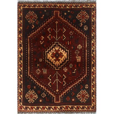 One-of-a-Kind Millet Semi Antique Niyoosha Hand-Knotted Wool Black Area Rug