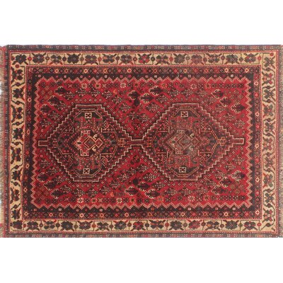 One-of-a-Kind Millet Semi Antique Bardia Hand-Knotted Wool Red Area Rug