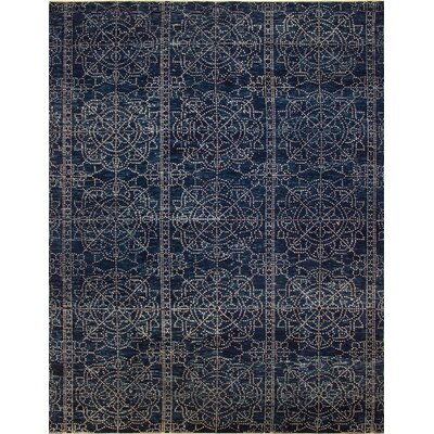 One-of-a-Kind Millican Fine Oushak Nuno Hand-Knotted Blue Area Rug