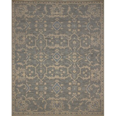 One-of-a-Kind Rothley Fine Oushak Maria Hand-Knotted Wool Green/Gray Area Rug