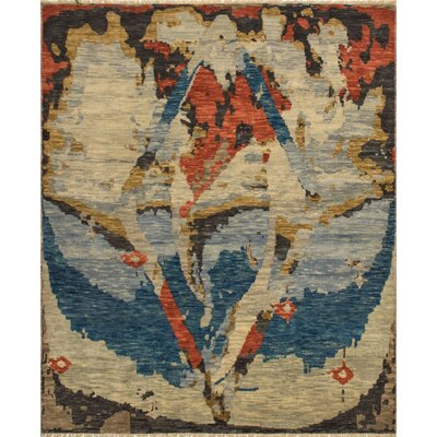 One-of-a-Kind Wobnar Oushak Ana Hand-Knotted Wool Gray Area Rug