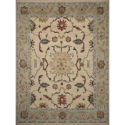One-of-a-Kind Rothley Fine Oushak Lara Hand-Knotted Wool Ivory Area Rug