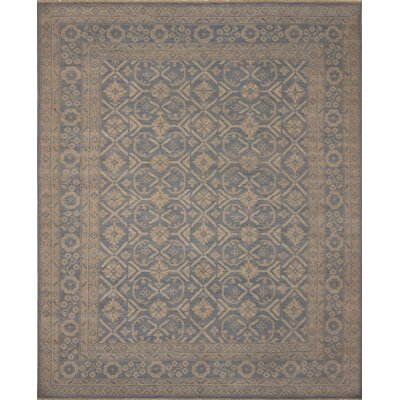 One-of-a-Kind Rothley Fine Oushak Vitoria Hand-Knotted Wool Blue Area Rug
