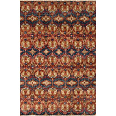 One-of-a-Kind Millican Fine Oushak Leticia Hand-Knotted Wool Rusty Red Area Rug