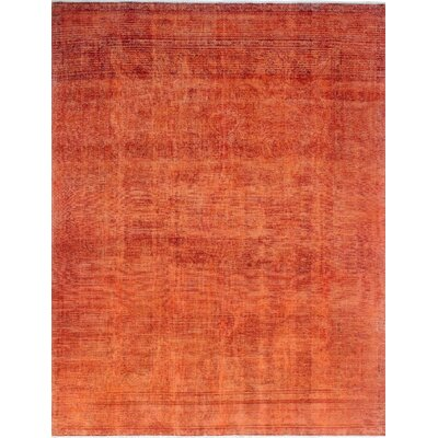 One-of-a-Kind Millikan Distressed Overdyed Florence�Hand-Knotted Wool Orange Area Rug