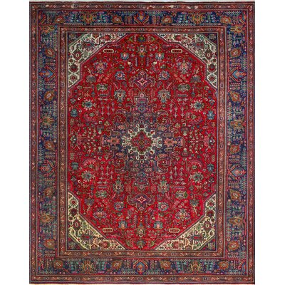 One-of-a-Kind Millikan Distressed Elsie�Hand-Knotted Wool Red Area Rug