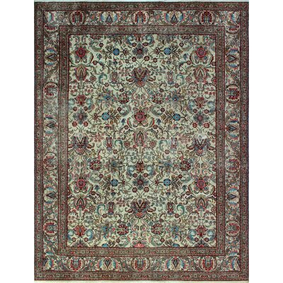 One-of-a-Kind Millikan Distressed Rosie�Hand-Knotted Wool Ivory Area Rug