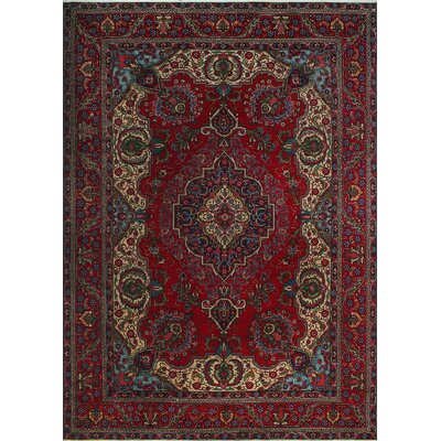 One-of-a-Kind Millikan Distressed Imogen�Hand-Knotted Wool Red Area Rug