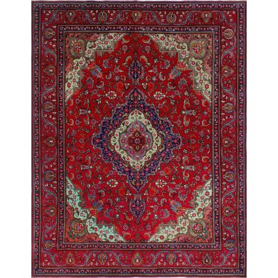 One-of-a-Kind Millikan Distressed Lola Hand-Knotted Wool Red Area Rug