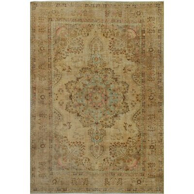One-of-a-Kind Millikan Distressed Overdyed Lulu Hand-Knotted Wool Beige Area Rug