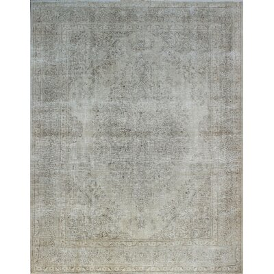 One-of-a-Kind Millikan Distressed Salehe Hand-Knotted Wool Ivory Area Rug