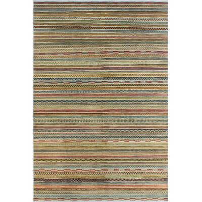 One-of-a-Kind Sempronius High-Low Fine Chobi Susan Hand-Knotted Wool Beige Area Rug