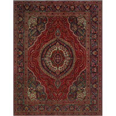 One-of-a-Kind Millikan Distressed Layla Hand-Knotted Wool Red Area Rug