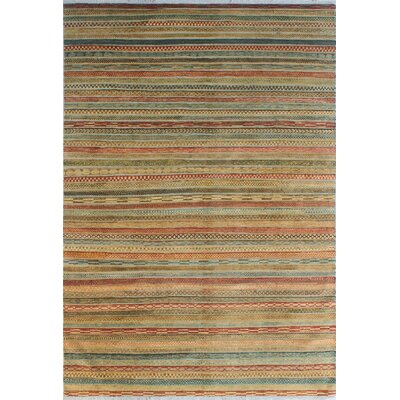 One-of-a-Kind Sempronius High-Low Fine Chobi Margaret Hand-Knotted Wool Red Area Rug
