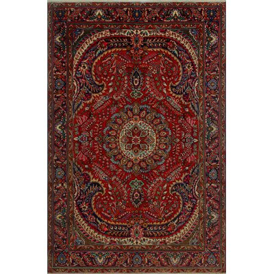 One-of-a-Kind Millikan Distressed Holly Hand-Knotted Wool Red Area Rug
