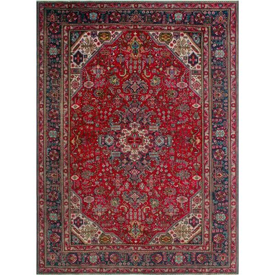 One-of-a-Kind Millikan Distressed Lilly Hand-Knotted Wool Red Area Rug
