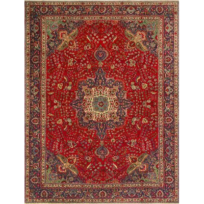 One-of-a-Kind Millikan Distressed Molly�Hand-Knotted Wool Red Area Rug