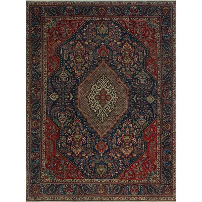 One-of-a-Kind Millikan Distressed Erin Hand-Knotted Wool Blue Area Rug