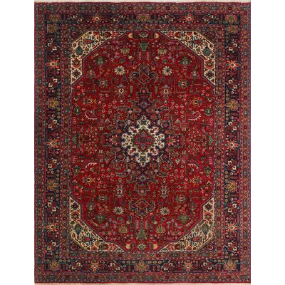 One-of-a-Kind Millikan Distressed Ellie�Hand-Knotted Wool Red Area Rug