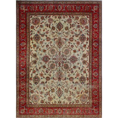 One-of-a-Kind Millikan Distressed Maya�Hand-Knotted Wool Ivory Area Rug
