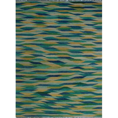 One-of-a-Kind Milliman Kilim Emilia�Hand-Woven Wool Beige Area Rug