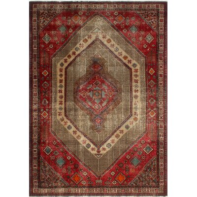 One-of-a-Kind Millikan Distressed Eliza Hand-Knotted Wool Red Area Rug
