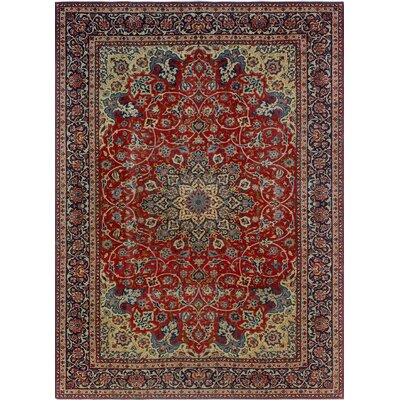 One-of-a-Kind Millikan Distressed Esme�Hand-Knotted Wool Green Area Rug