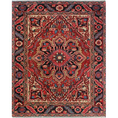 One-of-a-Kind Millikan Heriz Ethan Hand-Knotted Wool Red Area Rug