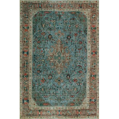 One-of-a-Kind Millikan Distressed Overdyed Ralph Hand-Knotted Wool Gray Area Rug