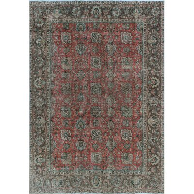 One-of-a-Kind Millikan Distressed Overdyed Carla Hand-Knotted Wool Rust Area Rug